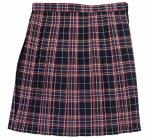 制服スカート【5333】W60〜72紺赤チェック柄スクールスカート