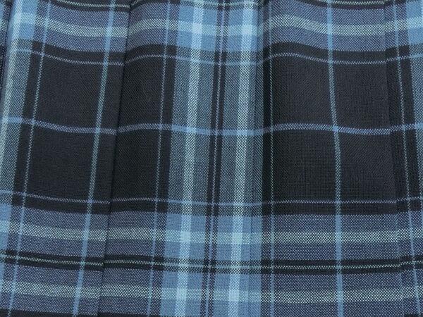 制服スカート紺サックスチェック夏用W60〜72丈48/51紺系一番人気の夏スカートKURI-ORI(クリオリ)