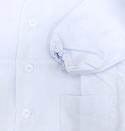 【メール便OK】給食用白衣前ボタン150/160給食/調理実習小学校【ラッキーシール対応】