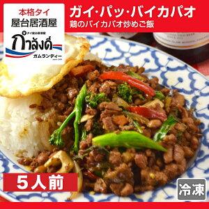 ガパオライス(鶏のバイカパオ炒めご飯) ジャスミンライス付き 5人前タイ国政府公認 本場 タイ…