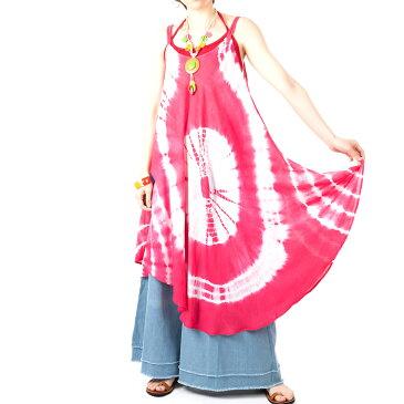 エスニック ワンピース タイダイ レディース 5カラー エスニックファッション アジアンファッション アジアン キャミワンピ かわいい ゆったり おしゃれ ヒッピー ボヘミアン