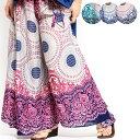 エスニック パンツ ワイドフレア レディース エスニックファッション アジアンファッション ガウチョ...