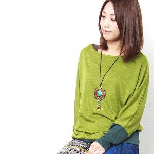 エスニック カットソー ドルマンスリーブ エスニック レディース エスニック ファッション アジアン ファッション ゆったり シンプル