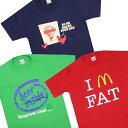 おもしろTシャツ 半袖 【Tシャツ メンズ レディース マック ケンタッキー インテル フライドチキン ハンバーガー ジョークTシャツ 半袖Tシャツ パロディー 面白】