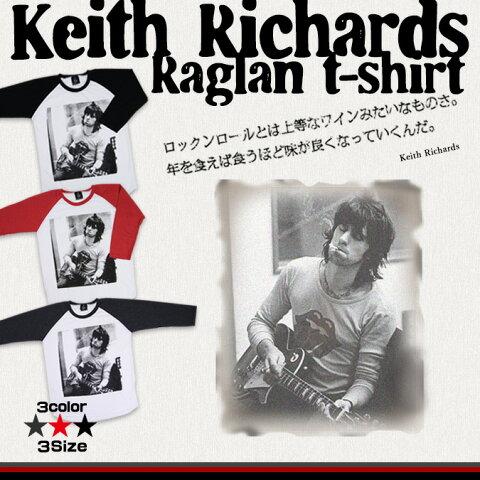 キース・リチャーズ ラグラン Tシャツ ファッション メンズ レディース ローリングストーンズ ストーンズ ロックTシャツ ミュージシャン バンド バンドTシャツ ギターリスト The Rolling Stones