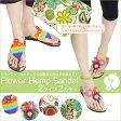 エスニック フラワー サンダル | アジアン ファッション 靴 サンダル レディース アジアンサンダル エスニックサンダル 軽い 可愛い 履きやすい