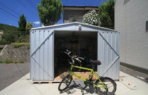 <ユーロ物置 バイク小屋 バイクガレージはイープラン> 組立ても簡単な、おしゃれ物置!物置・...