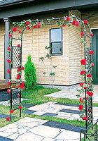 日本製 スライドフラワーアーチ幅広 バラアーチ 薔薇アーチ 高さ210cm 植木鉢 鉢 バラ...