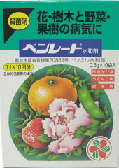 ベンレート水和剤 0.5gx10袋 殺菌剤 球根の消毒 / クロネコメール便可 【あす楽対応_関東】