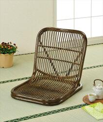 【送料無料】(座椅子S-14B)ブラウン籐籐家具座椅子椅子イス和風リビングルーム籐(ラタン)製輸入品完成品【smtbーMS】