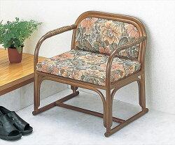 【送料無料】(籐便利座椅子S-112B)ブラウン籐籐家具座椅子椅子イス和風リビングルーム籐(ラタン)製輸入品完成品【smtbーMS】