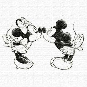 ミッキー ミニー アートパネル ディズニー Mickey Mouse XLサイズ 100cm×100cm lib-4122149s5送料無料 北欧 モダン 家具 インテリア ナチュラル テイスト 新生活 オススメ おしゃれ 後払い 雑貨