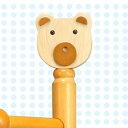 ジュニアハンガー かわいいクマのモチーフ ハニーブラウンna-nk-5032送料無料 北欧 モダン 家具 インテ...