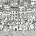 街並みイラスト インテリアパネル アートパネル STREET Sサイズ...