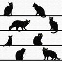 黒猫 アートボード アートパネル アートデリ Sサイズ 15cm×15...