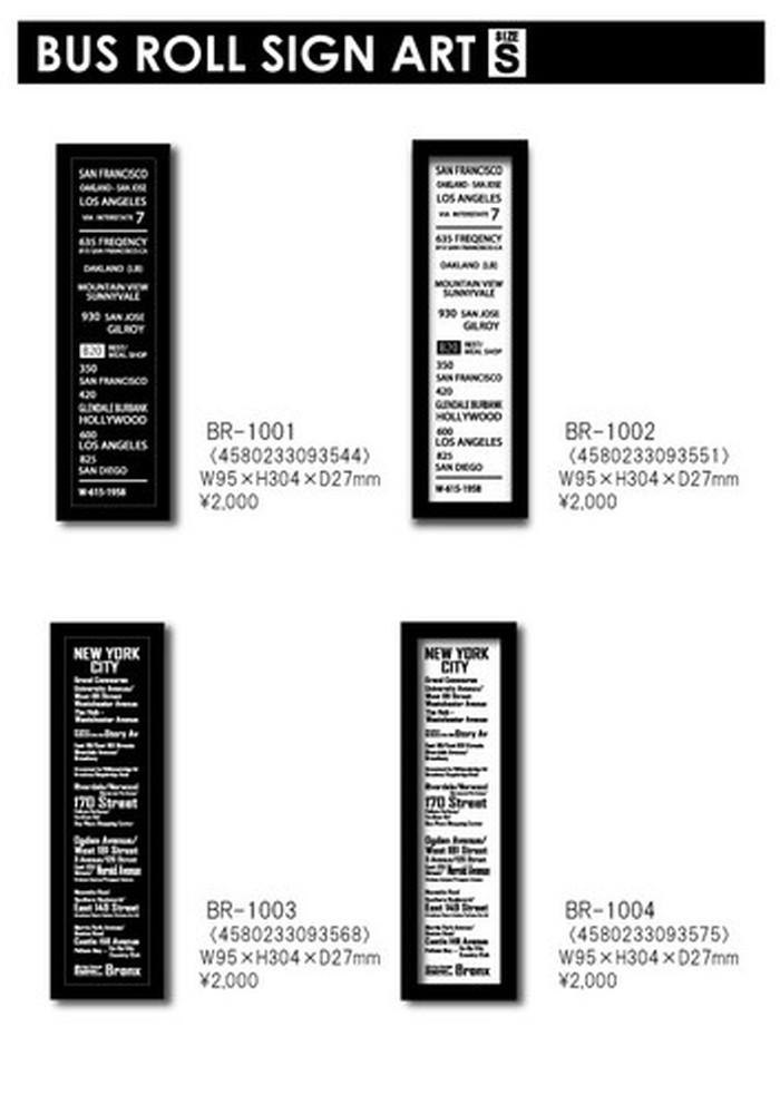 インテリア小物・置物, その他 BUS ROLL SIGN ART BR-1002 S kar-4638863s2