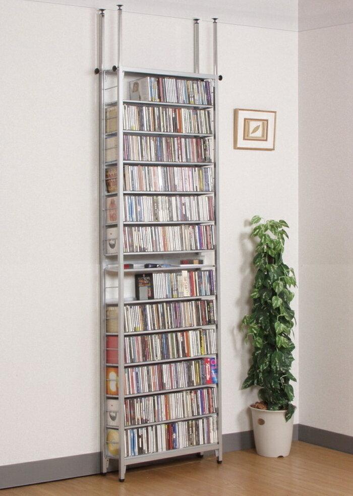 スチール製 ツッパリ CD ラック 64.5センチ幅 sei-sr-60c送料無料 北欧 モダン 家具 インテリア ナチュラル テイスト 新生活 オススメ おしゃれ 後払い 収納 棚 ラック シェルフ ディスプレイラック キャビネット 見せる
