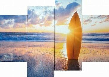 キャンバスアート Bello Canvas Art Surfboard on the beach at sunset 4枚セット 300x600x25 300x900x25mm IPT-61747 bic-7030274s1送料無料 北欧 モダン 家具 インテリア ナチュラル テイスト 新生活 オススメ おしゃれ 後払い 雑貨