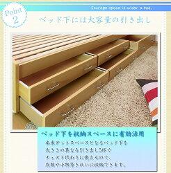 /セミシングル/サイズ/size/ベッド/bed/収納/セット/フレーム/すのこ/棚/照明/ライト/