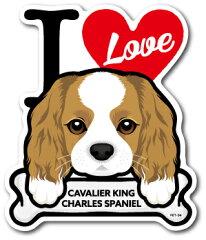PET-034/CAVALIER KING CHARLES SPANIEL/キャバリア/DOG STICKER ドッグステッカー 車 犬 イラスト アイラブ ペット 愛犬[ゼネラルステッカー]
