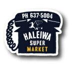 ハレイワスーパーマーケットステッカー★HSM-010
