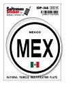 国際識別記号ステッカー IDP36S メキシコ MEXICO...