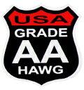 ステッカー No 002 GRADE AA HAWG