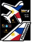 機体国旗ステッカー フィリピン PHILIPPINES KK038 トラベル ステッカー 旅行 飛行機