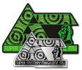 ムー×ハードコアチョコレートミステリーサークル2枚セットステッカーコラボLCS992月刊ムー公認グッズ