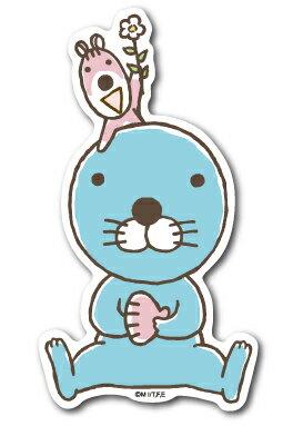 ぼのぼのステッカー お花 ぼのぼの BONOBONO LCS954 アニメ キャラクター グッズ画像