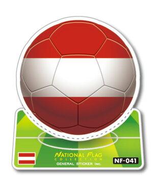 NF-041/オーストリア/サッカーボールステッカー/ ワールドカップ W杯 スポーツ観戦に!