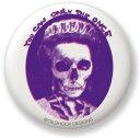OSB023 Lady Skull オイルショックデザインズ缶バッジ