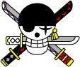 OPT24 ゾロ海賊旗 ワンピース ONE PIECE 転写ステッカー画像