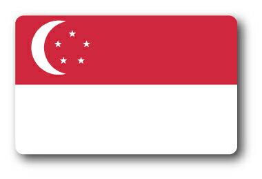 SK-216/国旗ステッカー シンガポール(SINGAPORE)