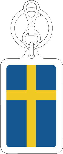 K-SK218 スウェーデン(SWEDEN) 国旗キーホルダー 旅行 スーツケース