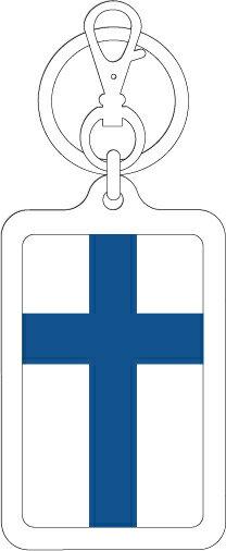 KSK228 フィンランド FINLAND 国旗キーホルダー 旅行 スーツケース