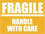 SK144 FRAGILE カッティング転写ステッカー 反射 白 スーツケースや機材ケースに