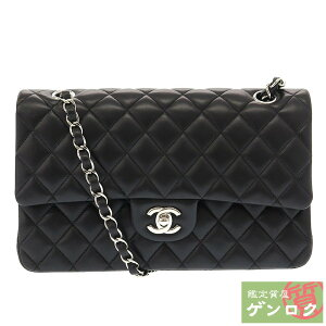 [Used] Chanel Matrasse 25 W Chain Shoulder 25 Series Shoulder Bag Lambskin Black Black CHANEL [Pawn Shop] [Cash on Delivery Fee Free]