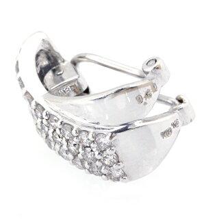 K18WGホワイトゴールドダイヤ0.50ct0.50ctイヤリング【】メンズレディース記念日美品良品おすすめ