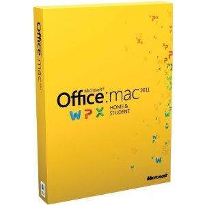 送料無料!(北海道・沖縄・離島除く)Microsoft Office for Mac Home and Student 2011 ファミリ...