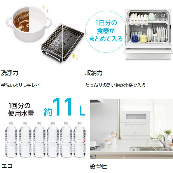 【あす楽】【在庫僅少】NP-TH2-W パナソニック 食器洗い乾燥機 食器点数40点(約5人分) ホワイト【smtb-k】【ky】【KK9N0D18P】