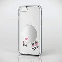 エレコム iPhone 7用シェルカバー/テクスチャー/ミラー PM-A16MPVATM04【KK9N0D18P】