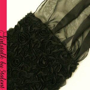 ◆あす楽対応◆もこもこ感のある高級2WAY★ボレロ代わりにも♪ティペットストール★リボン薔薇♪【RCP】【結婚式・二次会に通版dress】