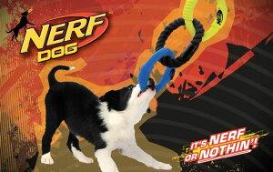 アメリカで人気の丈夫で引っ張りっこに最適のおもちゃ登場!!NERF DOG 引っ張り ラバーロープタ...
