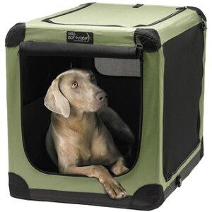 送料無料!大型犬用 折りたたみ ソフ クレートn2 XL モスグリーン ソフトケージ XLサイ…