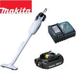 マキタ 18V コードレス 掃除機 紙パック式 CL182FDZW +急速充電器+純正バッテリーBL1820 充電式 ハンディ クリーナー CL182FDRFW リチウムイオンバッテリー コードレス掃除機
