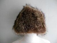 カナダ製■〜70'sBloominglale'sリアルファーキャップ/帽子