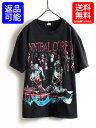 人気の黒 00s ■02年製 Cannibal Corpse カーニバル コープス 両面プリント 半袖 Tシャツ (メンズ 男性 M)ロックT 古着 デス メタル バンT