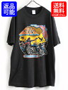 人気の黒 80s USA製■87年製 デイトナ ビーチ バイクウィーク 両面プリント 半袖 Tシャツ(男性 メンズ L)古着 80年代 アメリカ製 ハーレー