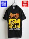 人気の 黒■ THE ADICTS アディクツ プリント 半袖 Tシャツ( 男性 メンズ 希少サイズ S ) 古着 PUNK パンク ロックT UK バンドT GILDAN